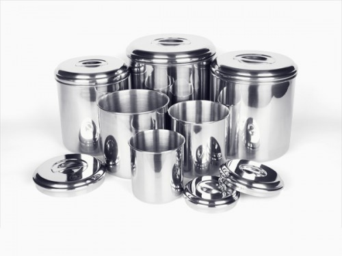 6 Piece Stainless Steel Canister Set