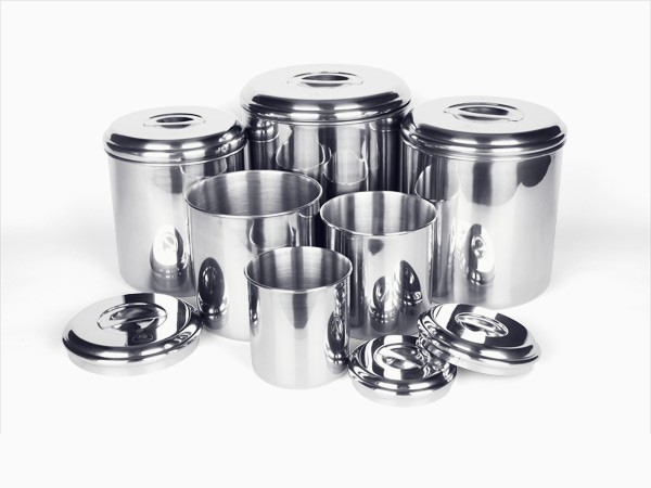6 piece stainless steel canister set the tickle trunk. Black Bedroom Furniture Sets. Home Design Ideas