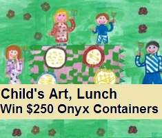 noon meal child art lunchtime